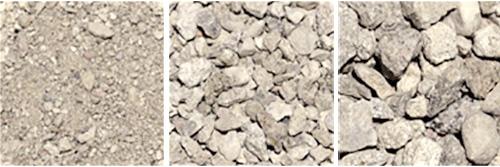 Material für Recyclingbeton Betonsplit