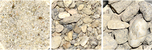 Sand und Kies Material für Beton